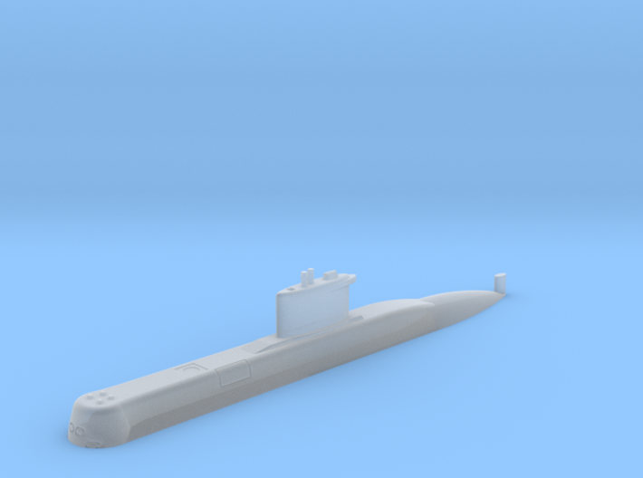 1/700 Type 209 - 1200 class submarine (Waterline) 3d printed 1/700 Type 209 - 1200 class submarine (Waterline)