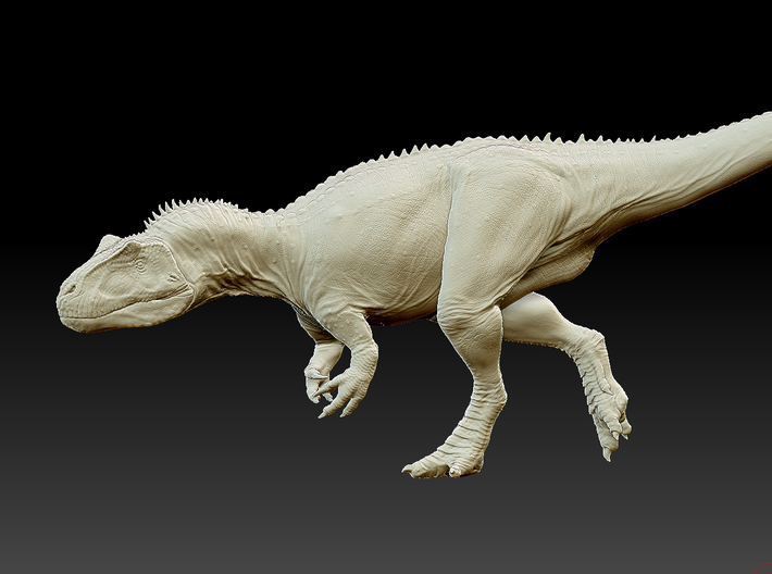 Sneaking Saurophaganax maximus - 1/72 3d printed Zbrush render of the model
