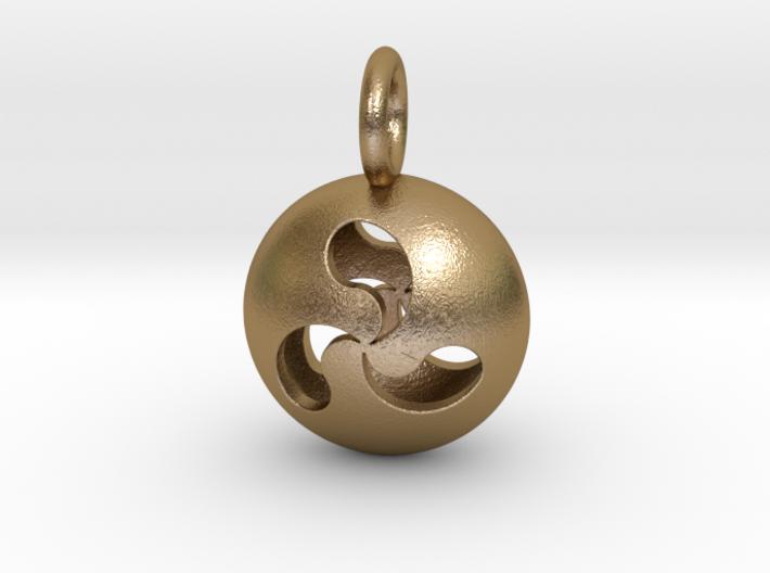 Tri Drop Pendant 3d printed
