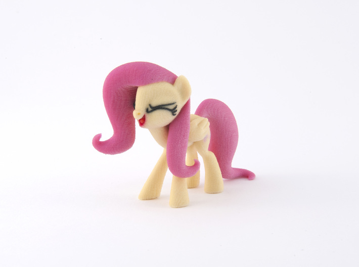 Fluttershy Yay 3d printed