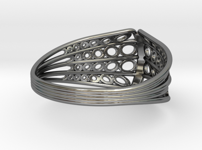 Knights Wire Ring - Sterling Silver 3d printed