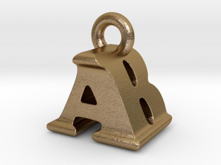 3D Monogram Pendant - ABF1 3d printed