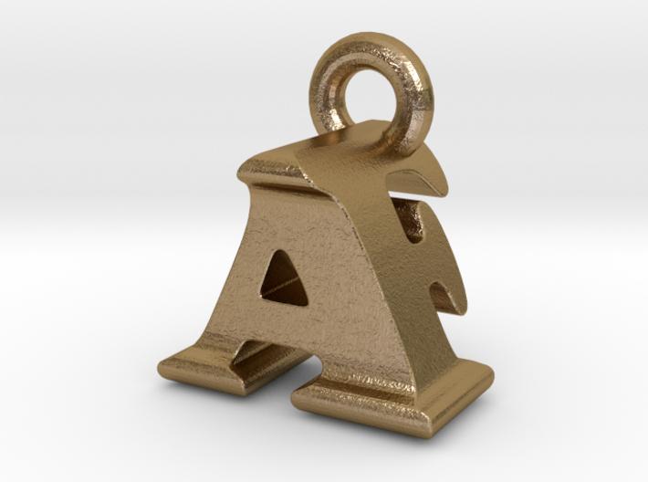 3D Monogram Pendant - AFF1 3d printed