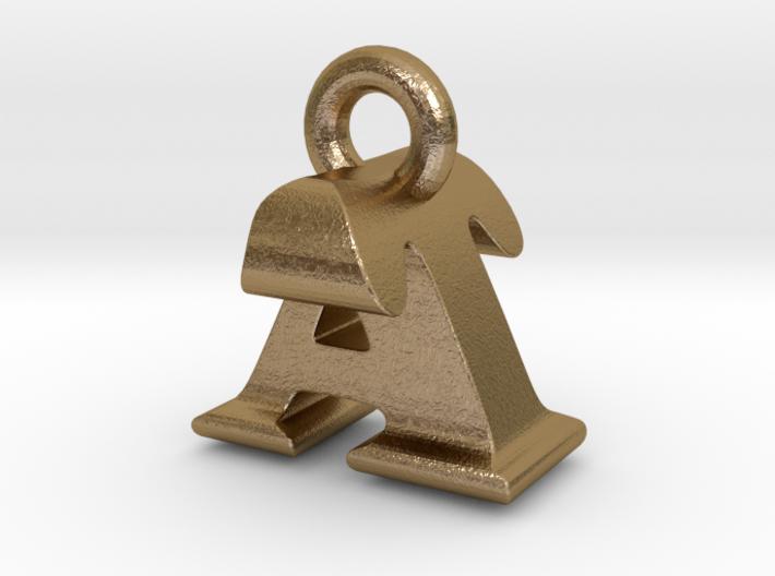3D Monogram Pendant - ATF1 3d printed