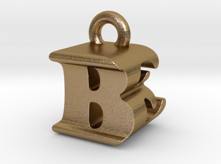 3D Monogram Pendant - BEF1 3d printed