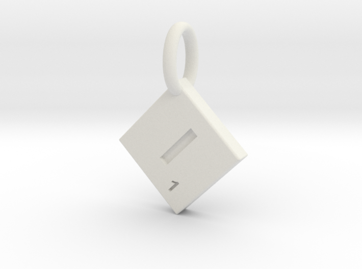 SCRABBLE TILE PENDANT I 3d printed