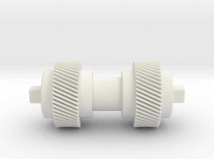 Double helical gear Mn=1 Z=50 Pressure Angle=20° 3d printed
