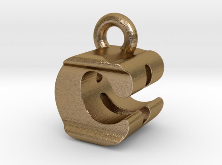 3D Monogram Pendant - CBF1 3d printed