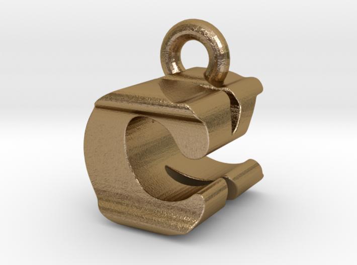 3D Monogram Pendant - CKF1 3d printed
