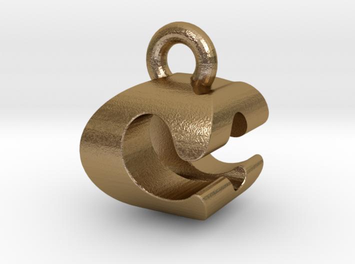 3D Monogram Pendant - COF1 3d printed