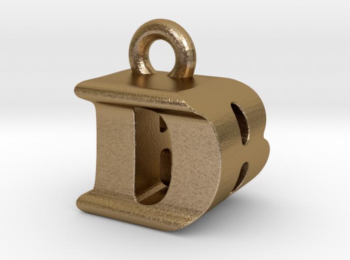 3D Monogram Pendant - DBF1 3d printed