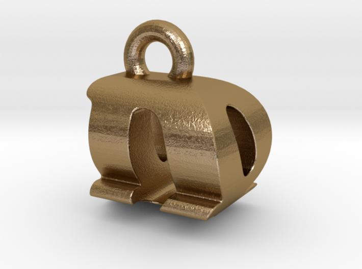 3D Monogram Pendant - DQF1 3d printed