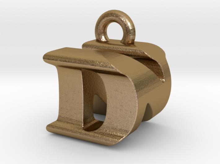 3D Monogram Pendant - DNF1 3d printed