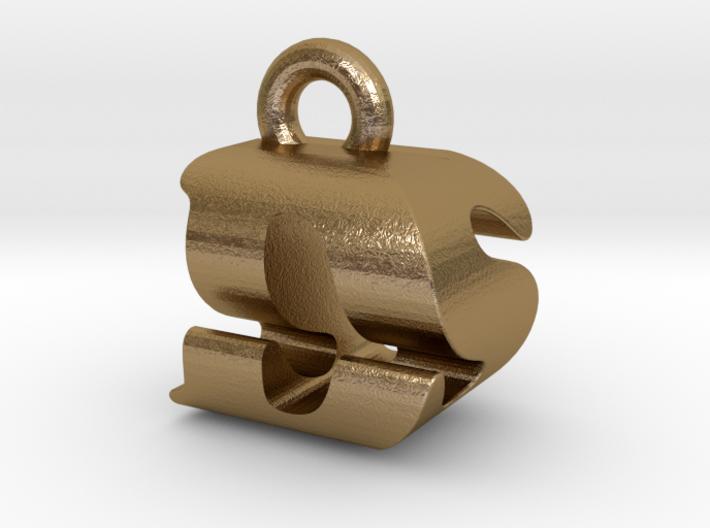 3D Monogram Pendant - DSF1 3d printed