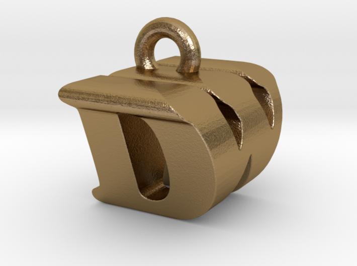 3D Monogram Pendant - DWF1 3d printed