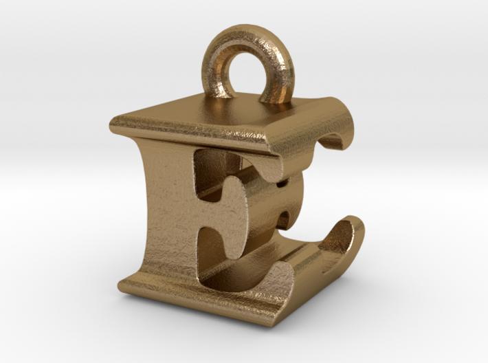 3D Monogram Pendant - EEF1 3d printed