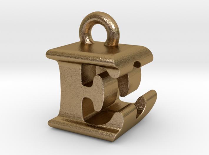 3D Monogram Pendant - EDF1 3d printed
