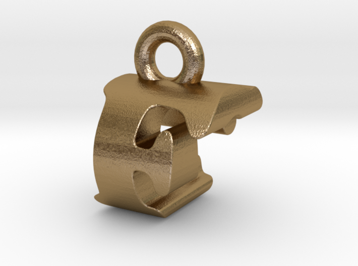 3D Monogram Pendant - FCF1 3d printed