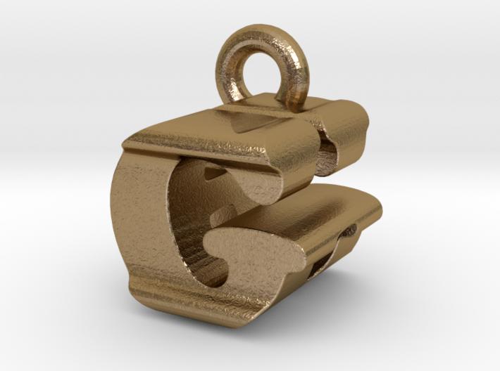 3D Monogram Pendant - GHF1 3d printed