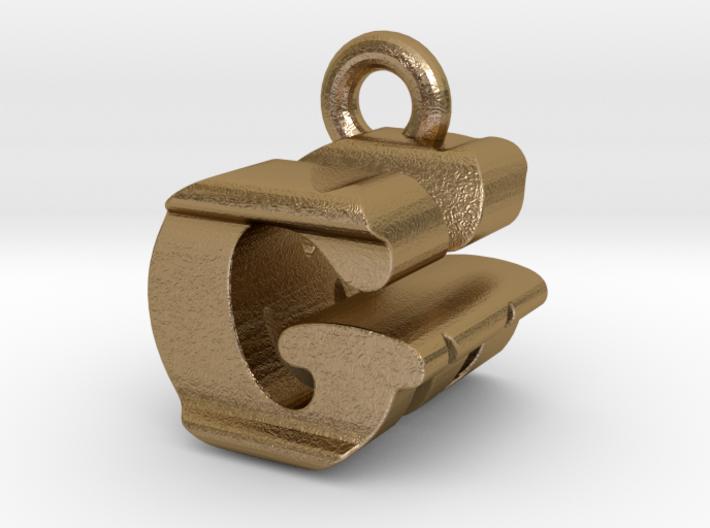 3D Monogram Pendant - GMF1 3d printed