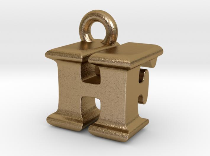 3D Monogram Pendant - HFF1 3d printed