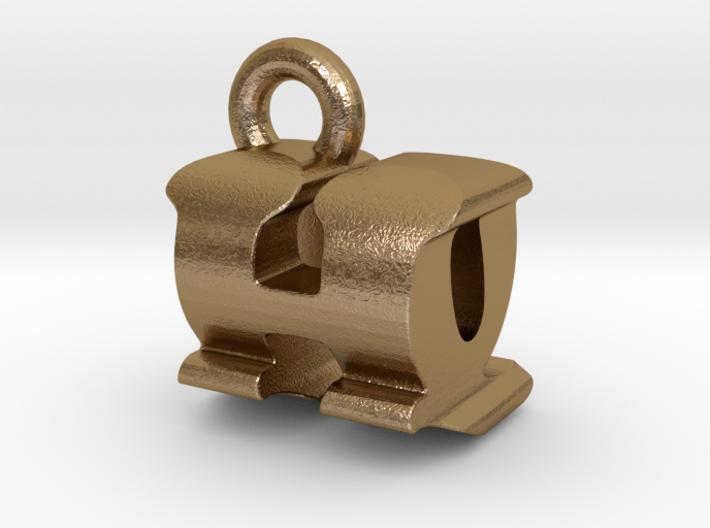 3D Monogram Pendant - HQF1 3d printed