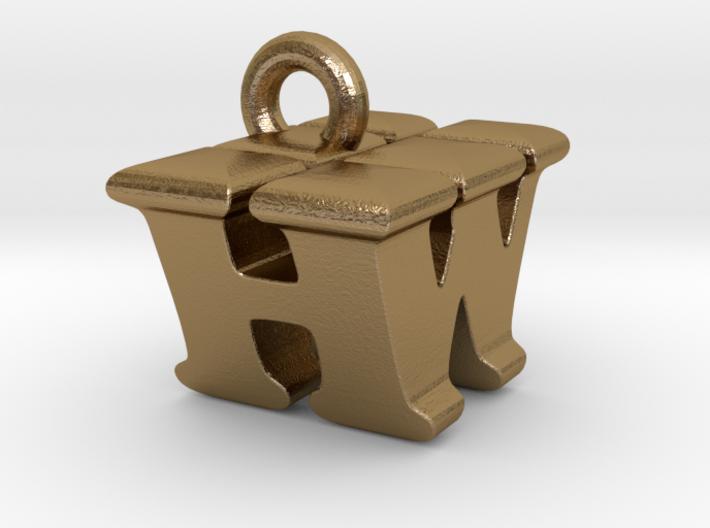3D Monogram Pendant - HWF1 3d printed