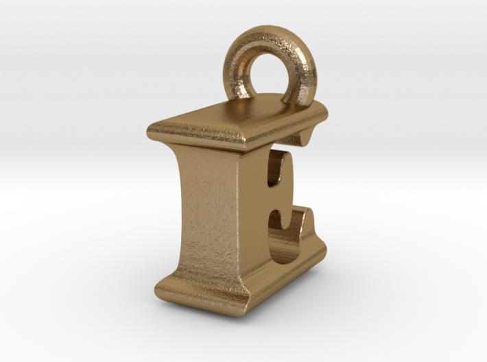 3D Monogram Pendant - IEF1 3d printed