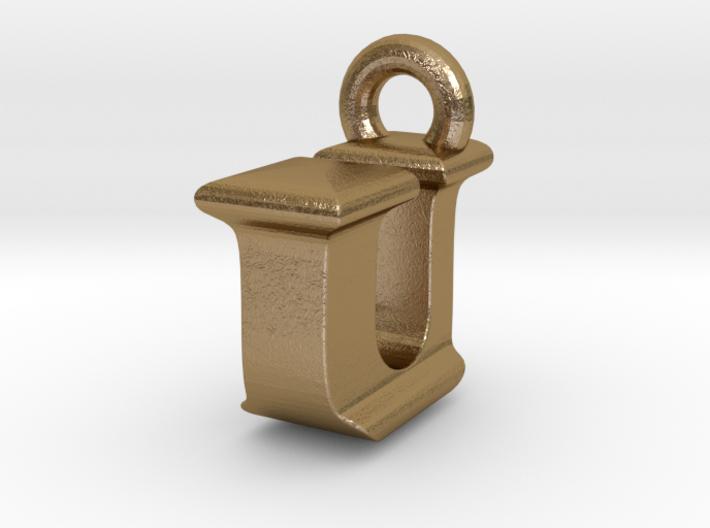 3D Monogram Pendant - IUF1 3d printed
