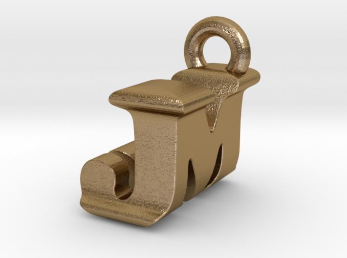 3D Monogram Pendant - JMF1 3d printed
