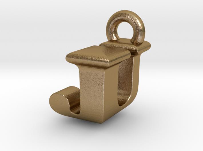 3D Monogram Pendant - JUF1 3d printed