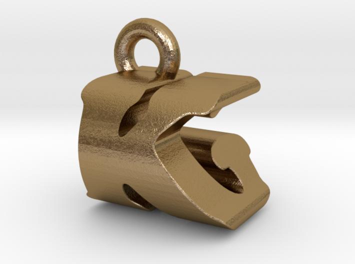 3D Monogram Pendant - KGF1 3d printed