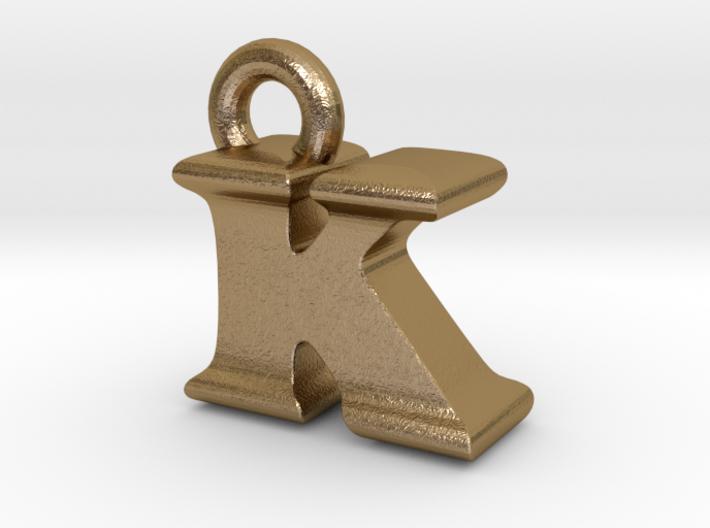 3D Monogram Pendant - KIF1 3d printed