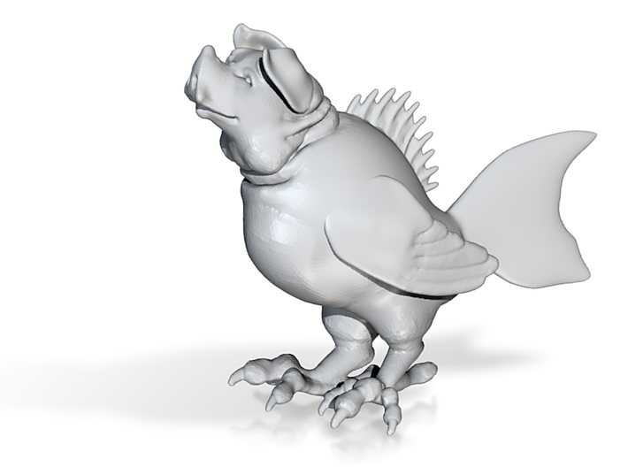 "Pig Fish Bird (3"" tall) 3d printed"