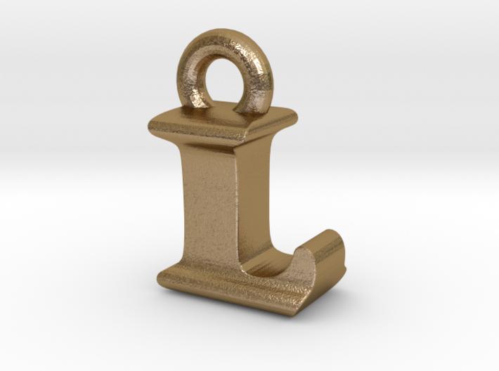 3D Monogram Pendant - LIF1 3d printed