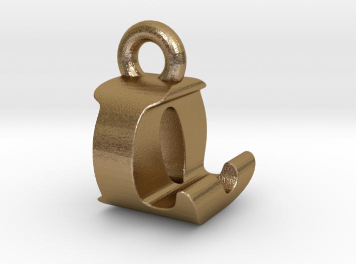 3D Monogram Pendant - LOF1 3d printed