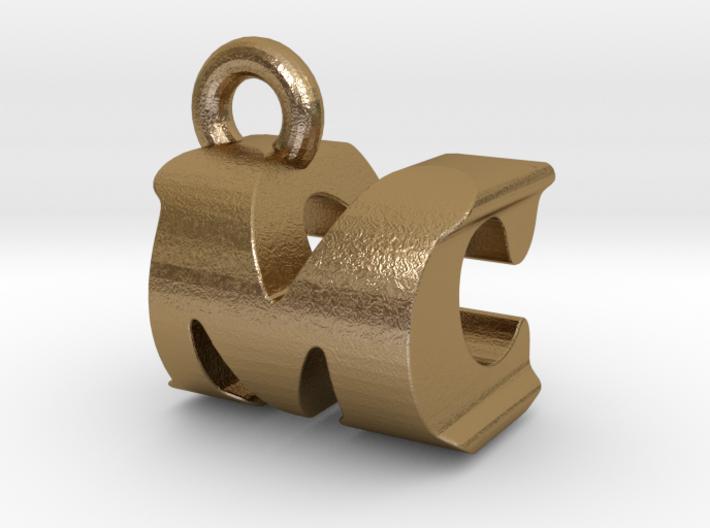 3D Monogram Pendant - MCF1 3d printed