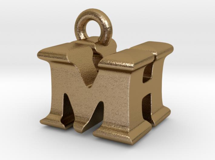 3D Monogram Pendant - MHF1 3d printed