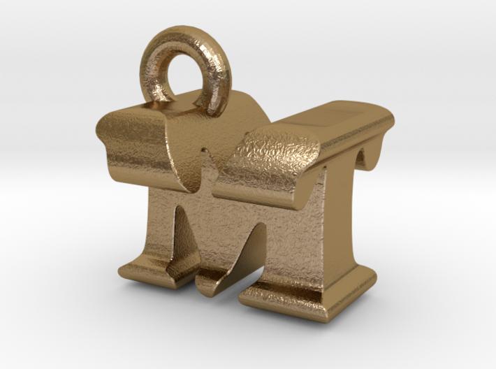 3D Monogram Pendant - MTF1 3d printed