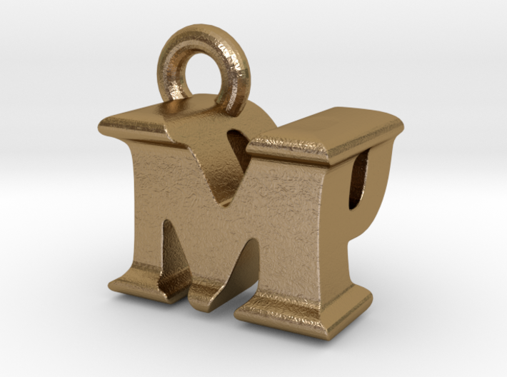 3D Monogram Pendant - MPF1 3d printed