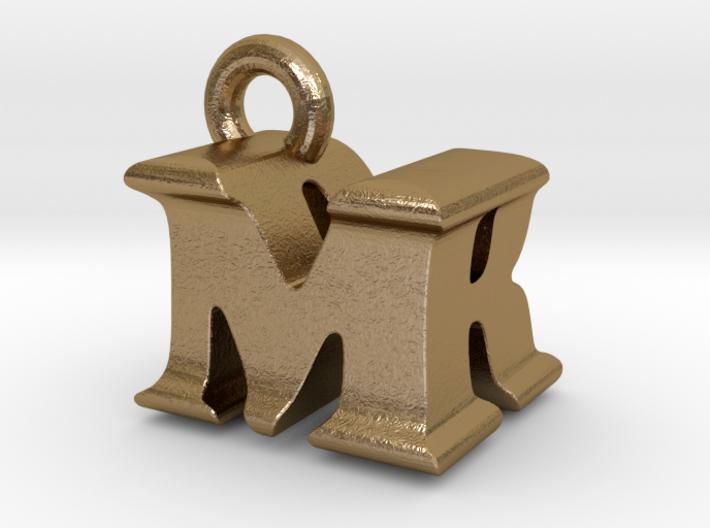 3D Monogram Pendant - MRF1 3d printed