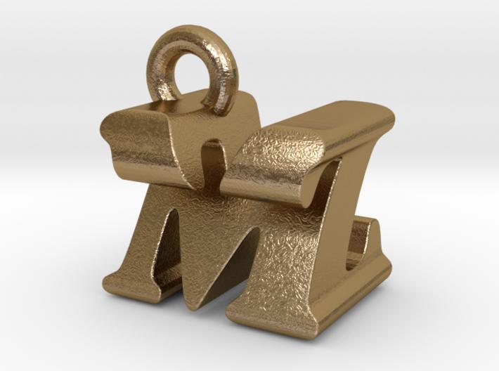 3D Monogram Pendant - MZF1 3d printed