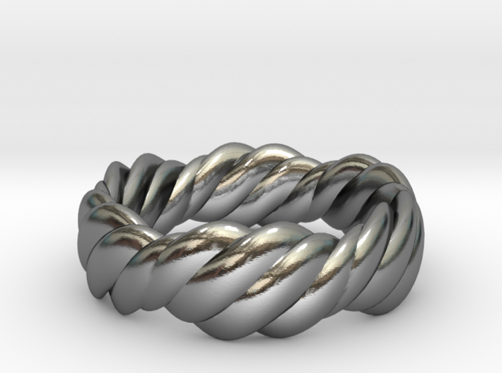Twist Ring Wide 3d printed