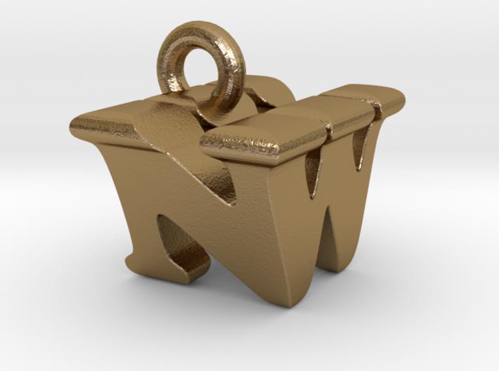 3D Monogram Pendant - NWF1 3d printed