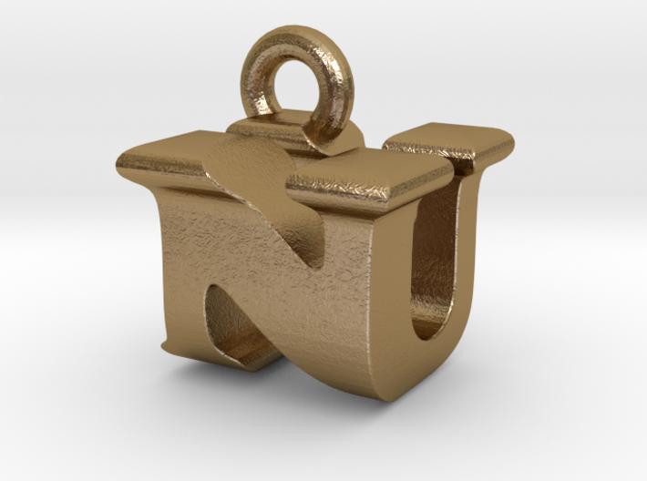 3D Monogram Pendant - NUF1 3d printed
