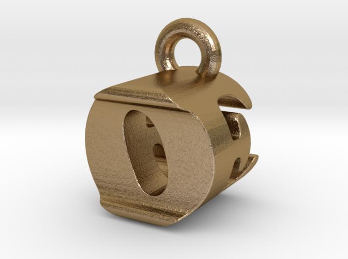 3D Monogram Pendant - OEF1 3d printed