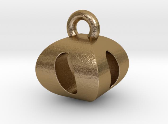 3D Monogram Pendant - OOF1 3d printed
