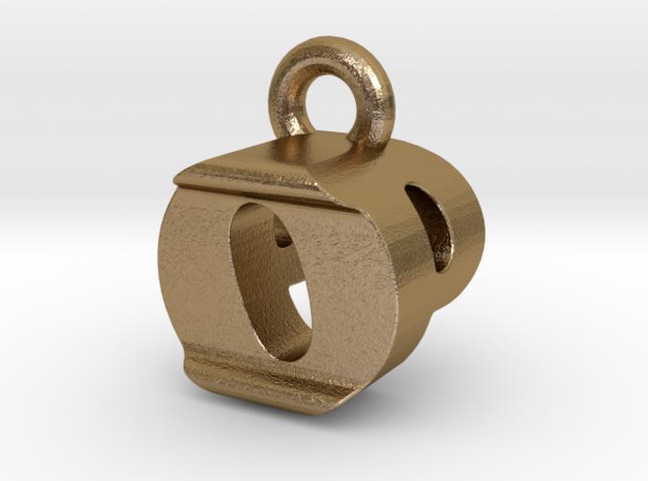 3D Monogram Pendant - OPF1 3d printed