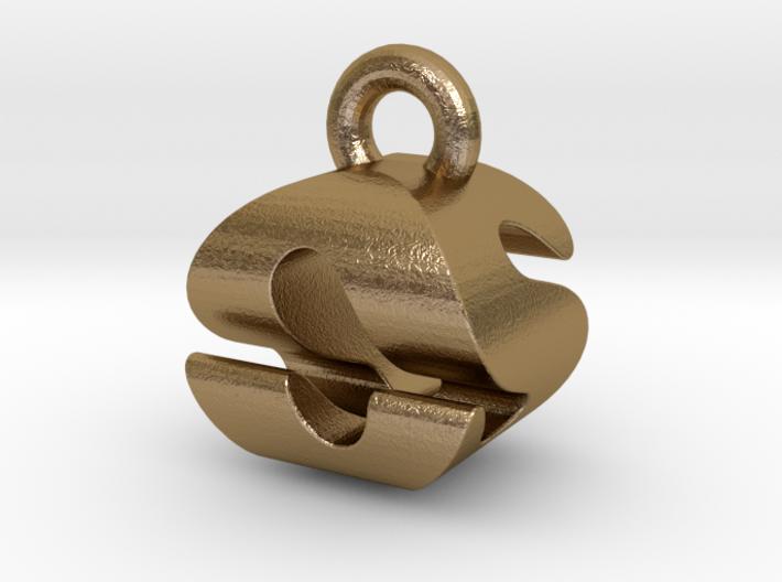 3D Monogram Pendant - OSF1 3d printed