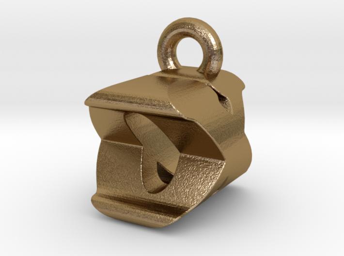 3D Monogram Pendant - OXF1 3d printed